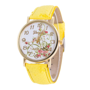 Geneva Fashion Women Flowers Watches Sport Analog Quartz Wrist relogio feminino erkek kol saati mens watches skmei saat analog watch