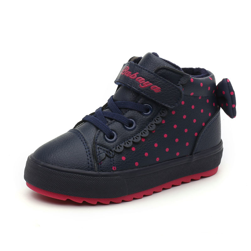 Image 3 - Children Shoes Girl 2018 Winter New Increase Down Thickening Casual Shoes Protect Warm Winter Snowfield Cotton Boots-in Sneakers from Mother & Kids