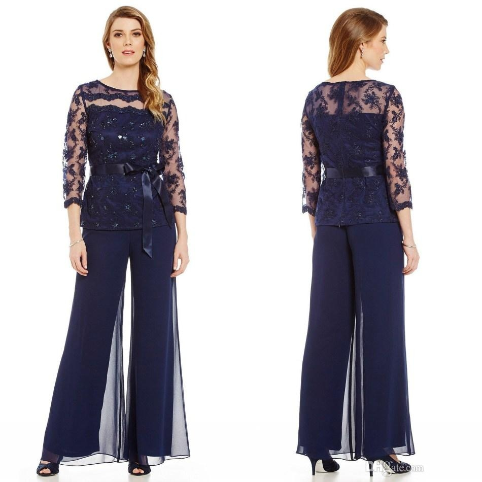Popular Navy Mother Of The Groom Pant Suit-Buy Cheap Navy Mother Of The Groom Pant Suit Lots ...