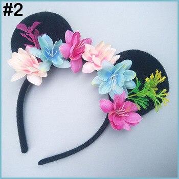 free shipping  50pcs Minnie Mouse   Ears Flower Headband Women   Hairband For Kid Girl Woman   Birthday Party Hairband Wedding