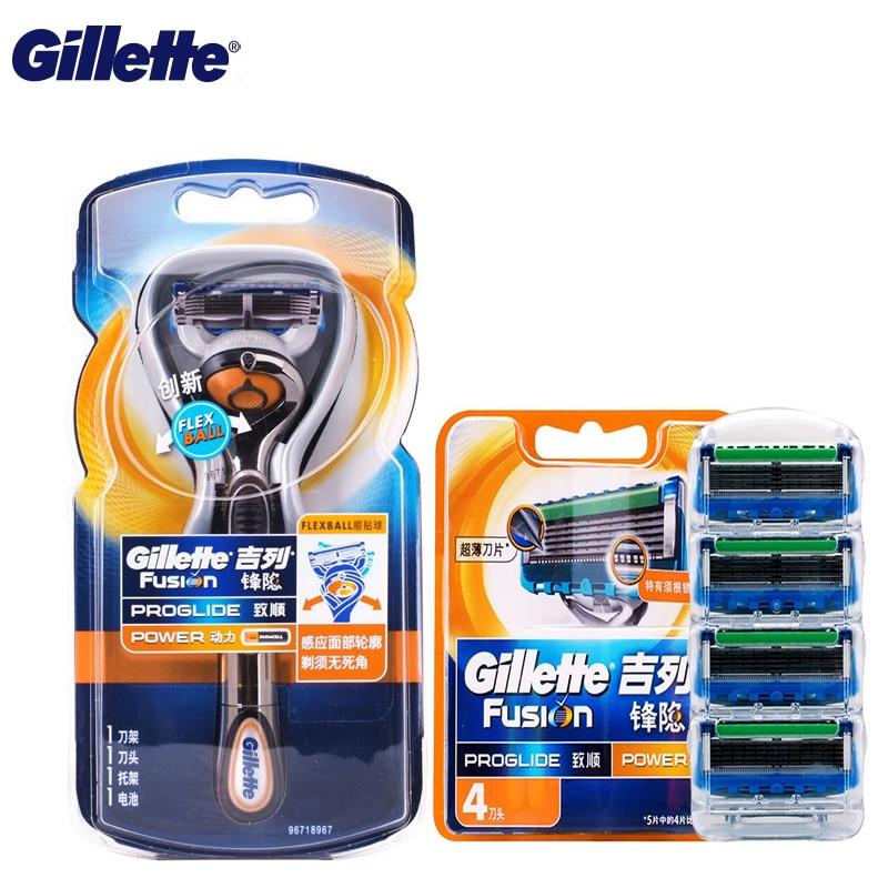 Gillette golarka elektryczna energii termojądrowej Flexball maszynki do golenia ostrza dla mężczyzn prawdziwej skóry pielęgnacja twarzy 1 uchwyt + 5 ściągające w Elektryczne maszynki do golenia od AGD na  Grupa 1