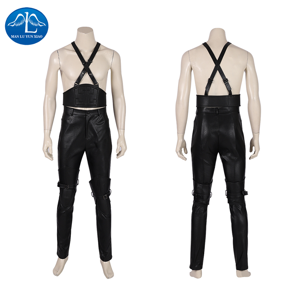 Ultimate DealÿSephiroth Cosplay Costume Remake Final Fantasy Halloween Game Men VII Faux-Leather