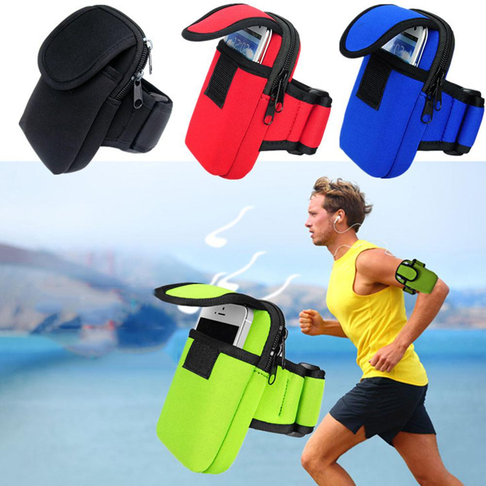 Mounchain Unisex Portable Lightweight Pockets Outdoor Sports Armband Bag 5.5inch Cellphone Phone Holder Running Arm Band Case