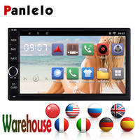 Panlelo Universal Radio 2din Android Car GPS Navigation 7''Quad Core Mirror Link Bluetooth Car Radio AM/FM/RDS for VW Toyota