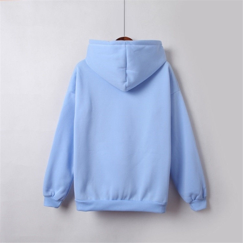 Hooded Tops Women's Sweatshirt Long-Sleeved Winter Velvet Thickening Coat 33