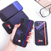 Motorsport Luxury Blu-ray Carbon Fiber Glass Case For iPhone 8 7 6 6S Plus  X Xs Max Xr Racing Car AMG M GTR Phone cover coque 19a41105ed7