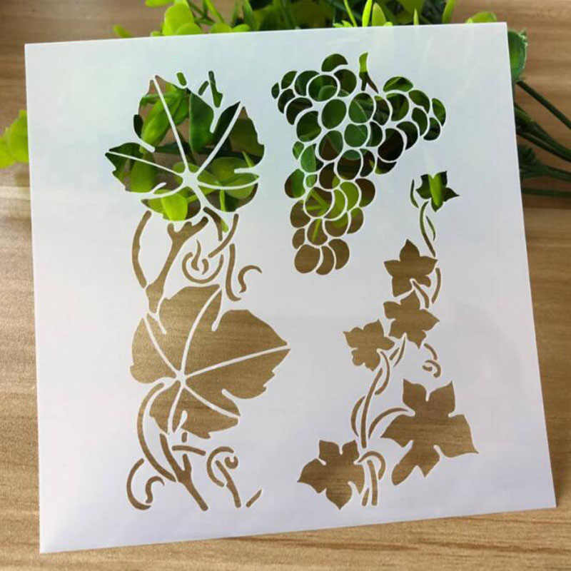 Stencil For Walls Craft Grape Rattan  Painting Scrapbooking Stamping Stencil Bullet Journ Embossing Paper Card Flower Template