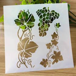 DIY Craft винограда ротанга трафарет для настенная живопись штампованная для скрапбукинга трафарет пуля лоигп тисненая картонная открытка