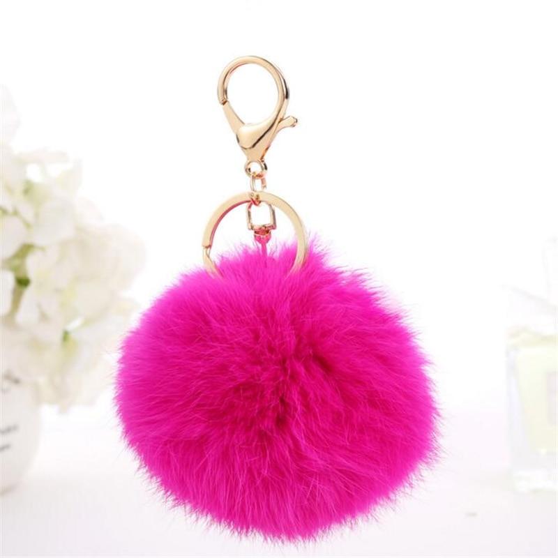 Fluffy Ball Keychain Cute Chaveiro Real Rabbit Fur Key Chain For Car Key  Ring Bag Pendant Trinkets Pom Pom Key Chains Llaveros-in Key Chains from  Jewelry ... cb2f2150328cf