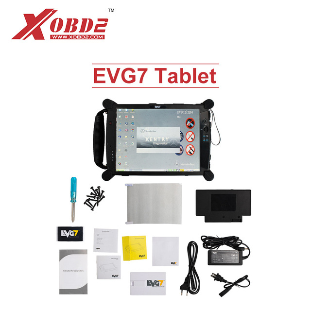 Professional EVG7 Diagnostic Controller Tablet PC for ICOM Star C3 C4 C5 GDS VCI MDI ODIS Software with Wifi Bluetooth