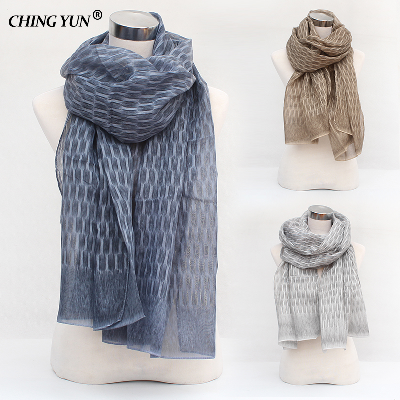 Spring Fashion Bandana Ladies Scarf Gold Thread Brand Plaid Cotton Soft Woman Scarf Girls Shawl High Quality Women Long Scarves