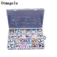 Otmagelu Clear Plastic 24 Slots Beautiful Jewelry Nail Art Rhinestone Empty Storage Box Case Craft Travel Organizer Bead Holder