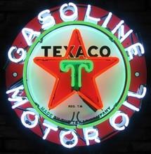 Barra di birra su ordinazione del segno della luce al Neon di vetro dellolio del motore della benzina di Texaco