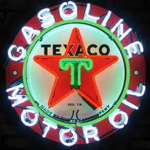 Custom Texaco Gasoline Motor Oil Glass Neon Light Sign Beer Bar