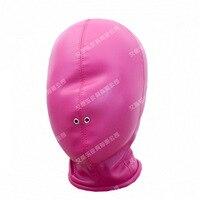 Hot Fuksja SM zabawy miękkie PU skóra maska maskę na twarz kara ustawić Baotou bdsm bondage zabawki kaptur Para flirtuje produkty dla dorosłych