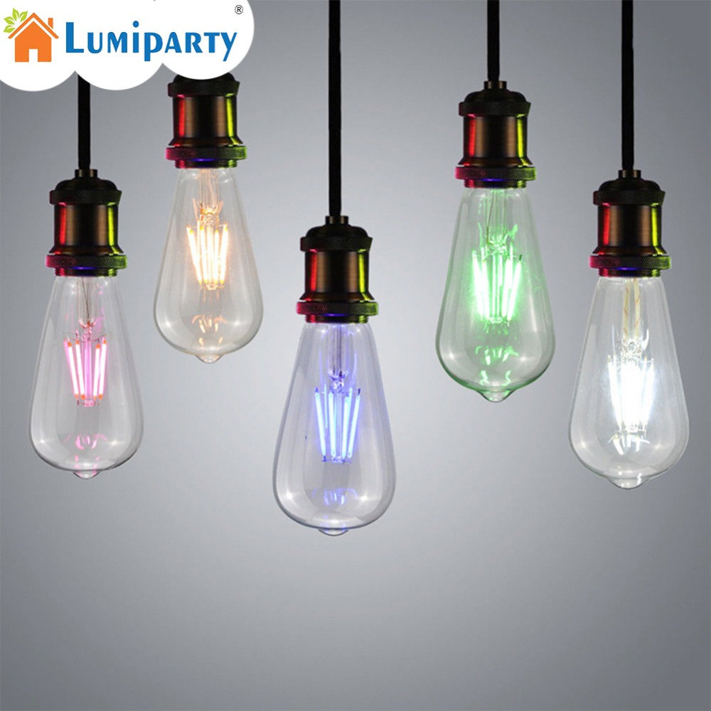 LumiParty Retro Decorative Edison Bulb LED COB E27 Screw Cap Pub Bar Ambient Filament Light Bulb for Home Coffee