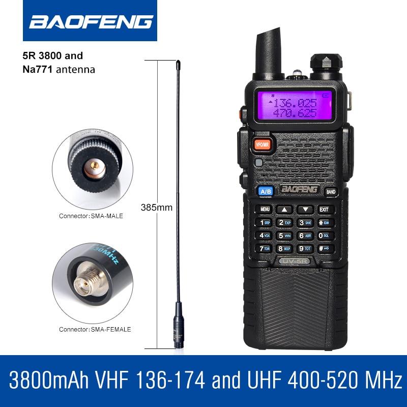 Baofeng UV-5R 3800 Walkie Talkie 5W dvopojasni radio UHF 400-520MHz - Voki-toki - Foto 2