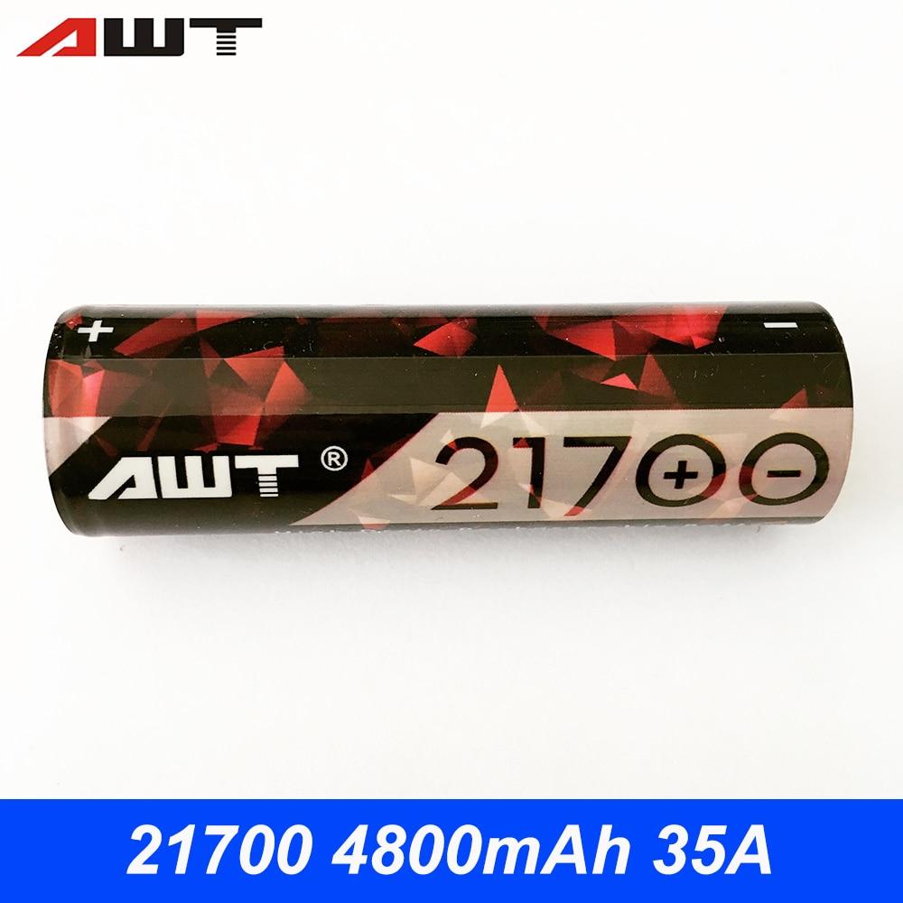 AWT 21700 batería 4800 mAh 35A para Vaporesso armadura Pro Geekvape hoja IJOY Wotofo arco recurvo Squonk Eleaf iStick Pico 21700 mod T11