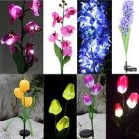 IKVVT Solar Power Flower LED Landscape Light Garden Stake Lamp Outdoor Patio Yard