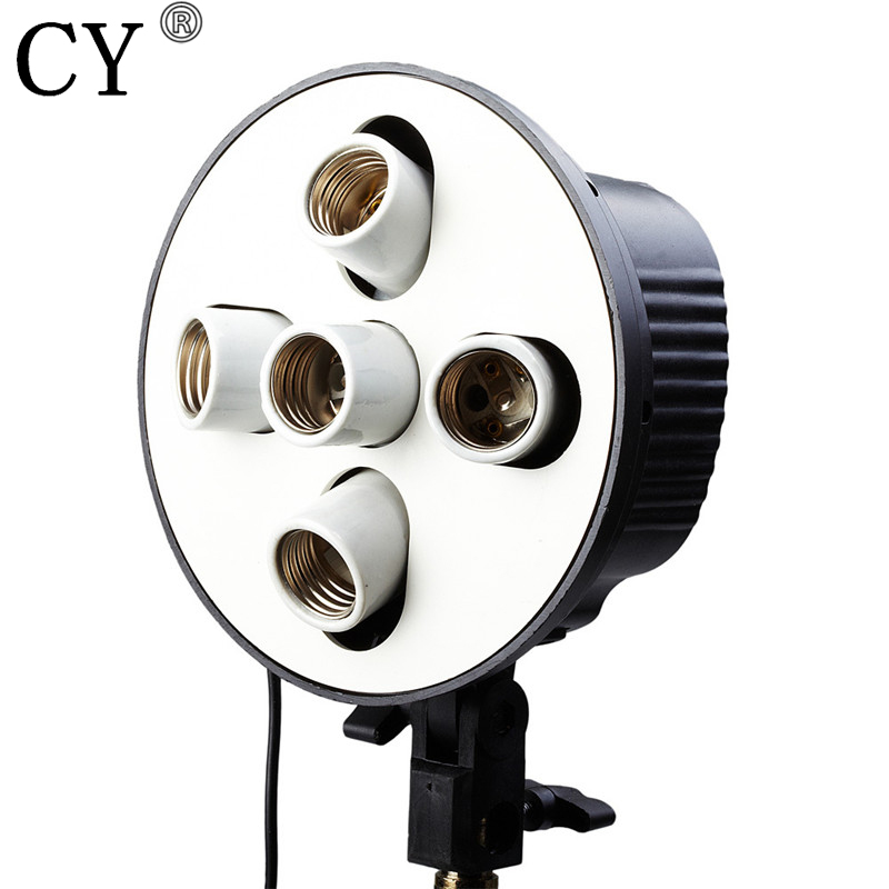 High Quality E27 5 Socket Lamps Head Bulb Holder Photography Lighting Equipment Photo Studio Accessories Hot Selling