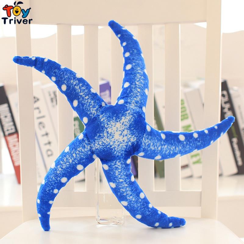 40cm Simulation Plush Toy Starfish Star Fish Stuffed Marine Ocean Animal Soft Dolls Kids Children Baby Seaside Shop Gift Decor in Stuffed Plush Animals from Toys Hobbies