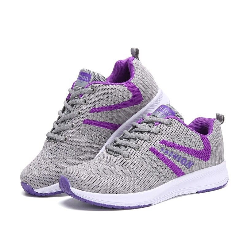 Powder Lumière Mode Chaussures Black Sport Sneakers Pour Respirant Femme Purple ash Fly Casual Dentelle Z Mesh up De gray Marche Armure UqwAFwf1