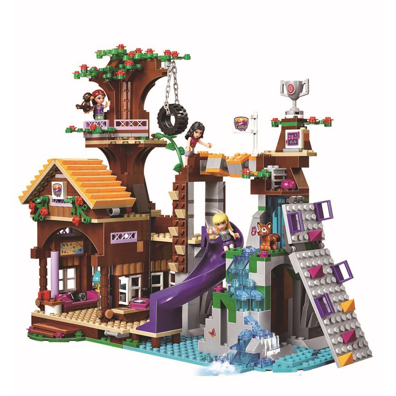10497 Friends Adventure Camp Tree House building Blocks Bricks Toys Girl Game Toys for children Gift Decool Lepin 41122 10162 friends city park cafe building blocks bricks toys girl game toys for children house gift compatible with lego gift