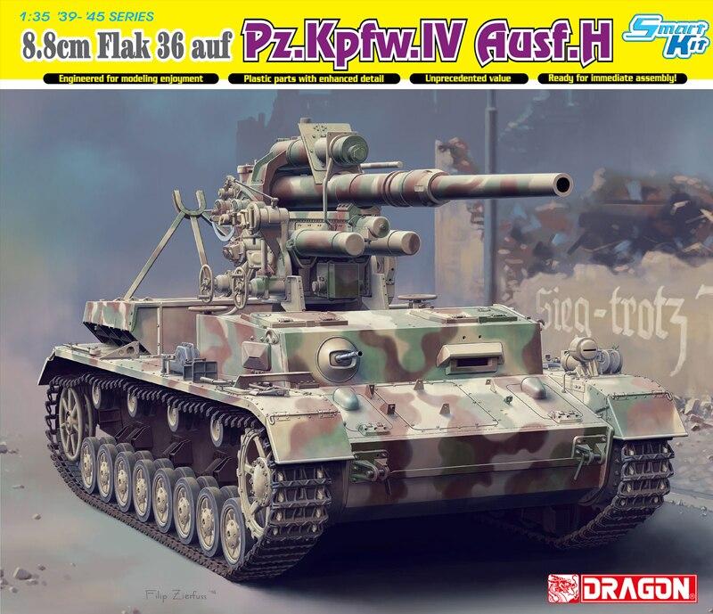 Dragon 6829 1 35WWII German 88mm FlaK 36 auf Pz Kpfw IV Ausf H Smart Kit