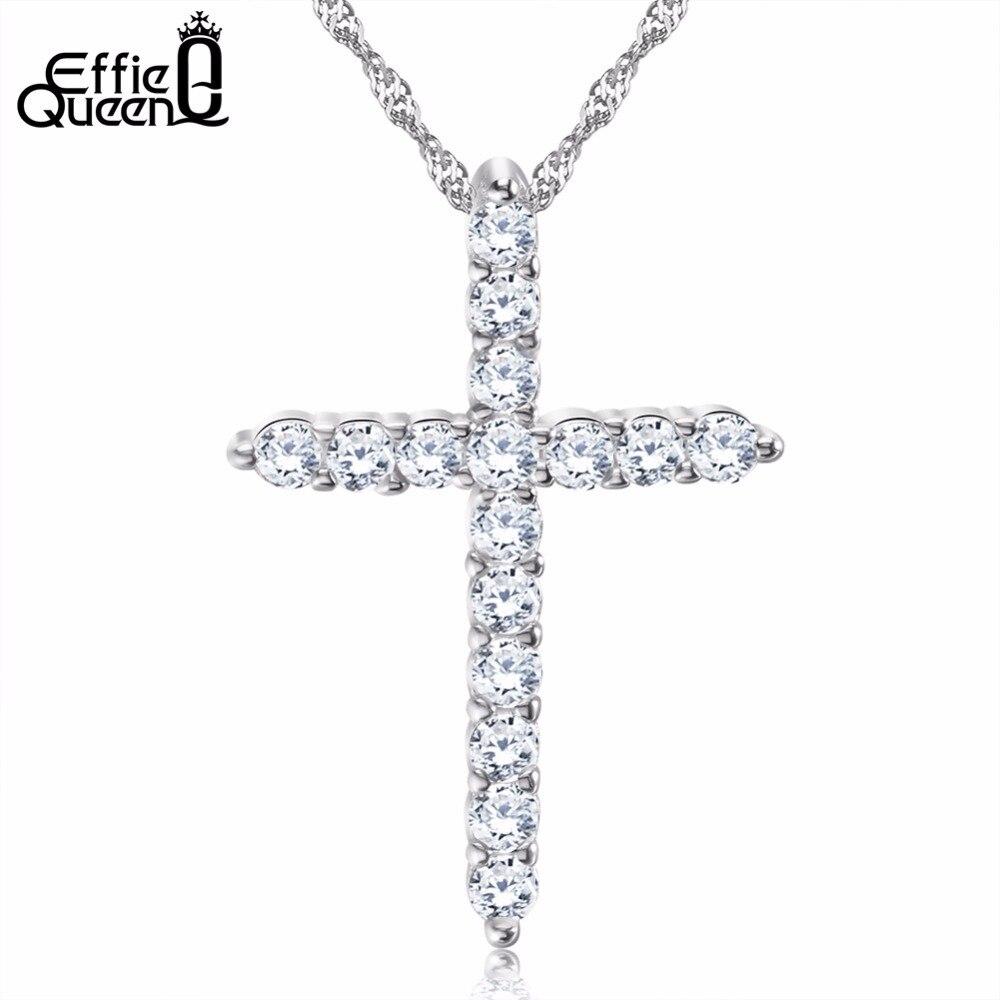 Effie Queen Silver Color Cross...