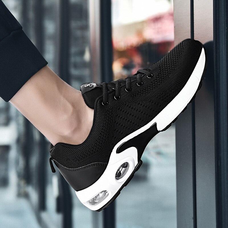Sapatos de Tênis Malha dos Homens Tenis Masculino Respirável Marca Esportes Sapatos Leves Tênis Atlético Zapatos Hombre 2019