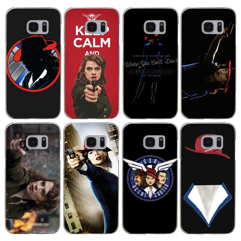 H012 Agent Carter Transparent Hard PC Case Cover For Samsung Galaxy S 3 4 5 6 7 8 Mini Edge Plus Note 3 4 5 8