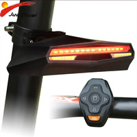 Bike Laser Tail Light USB Rechargeable Bicycle Rear Lamp Turn Signal USB Rechargeable Taillight MTB Mountain Bike Running Lights