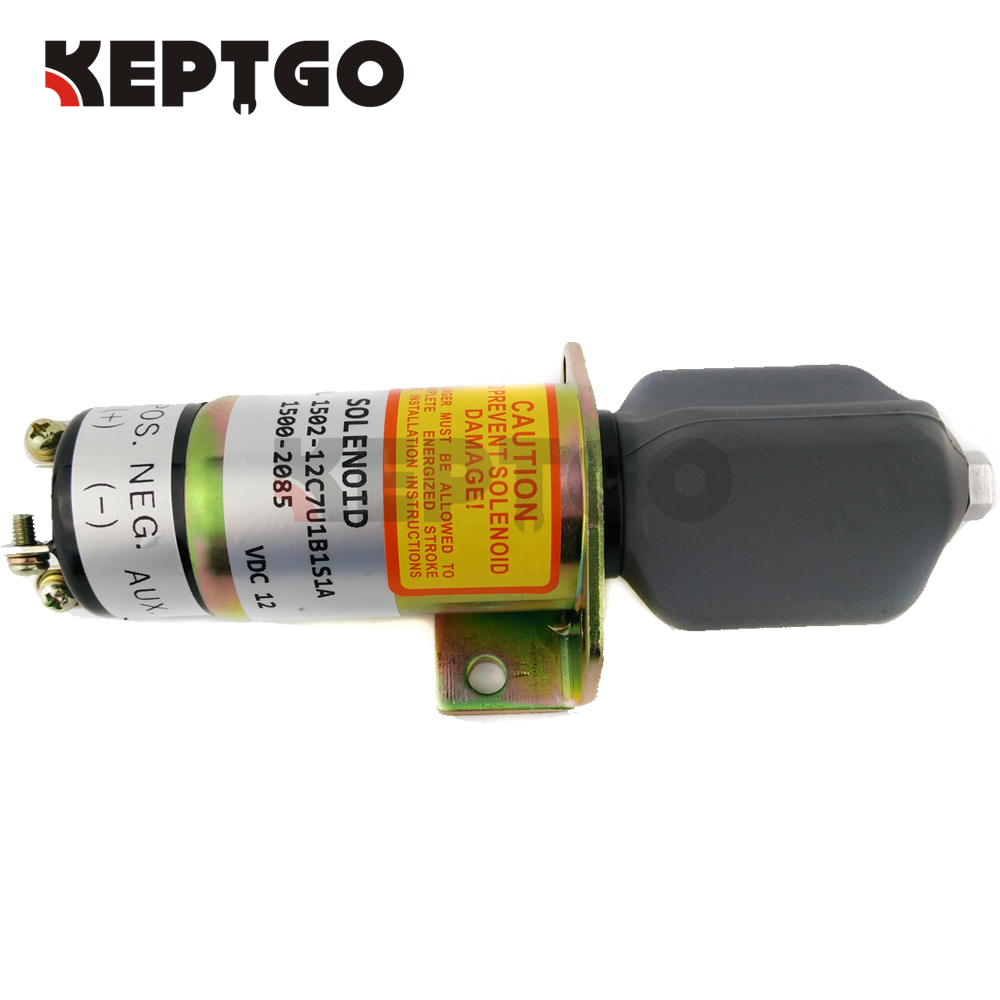 Stop Solenoid 1502-12C7U1B1S1A 1500-2085 12v with 3 terminals For Woodward free shipping 366 07198 1502 24c7u2b2s1 1502 24v 2 terminals for lister petter diesel stop solenoid