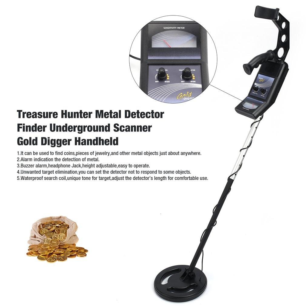 Professional Underground Metal Detector Handheld Treasure Hunter Gold Digger Finder Sensitive Adjustable Scanner Hunting розетка makel lillium natural kare скрытой установки телевизионная проходная белая 32 001 007