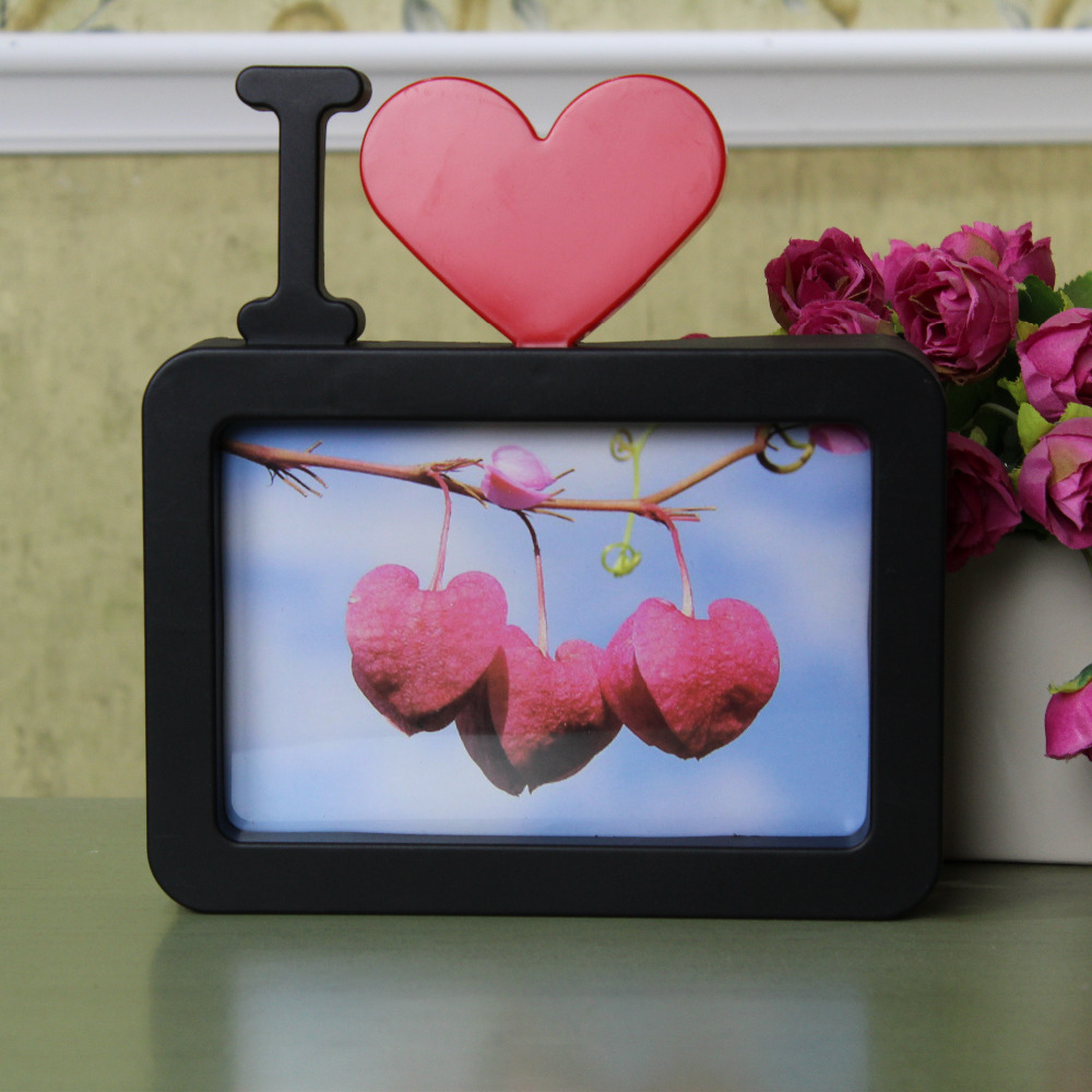 I Love You Photo Frame Red Heart Shaped With One Picture 6x4\