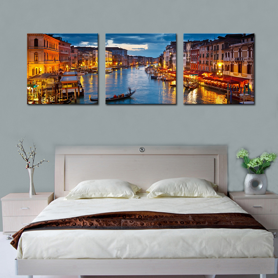 Italy Home Decor: 3 Picture Combination Wall Art Painting For Home Decor