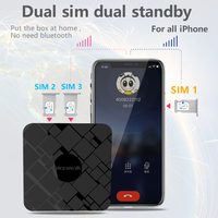 SIMadd pro 3SIM 3 Standby Box 3SIM Activate Online SIM ADD for i Phone 6/7/8/X SIM at home ,No need carry,No roaming