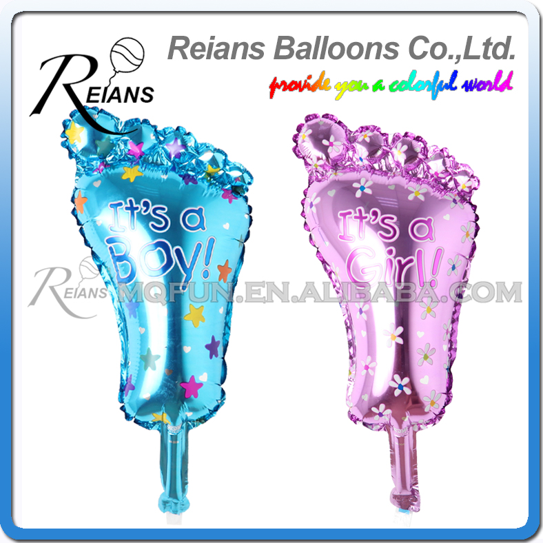 REIANS Novelty Its a Boy/Girl Lovely Feet Balloon Aluminum Foil Balloons Wedding Birthday Party Baby Shower Decoration Kids Gift