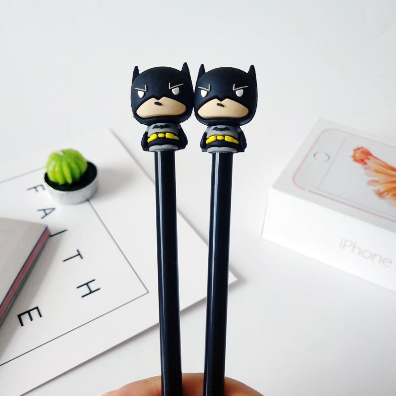 1 Pcs Novelty Super Hero Batman Gel Pen School Kawaii Promotional Gift Stationery Office Signature Pens Supplies