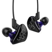 New KZ ES3 BA DD In Ear Earphones Hybrid Headset Headphone HIFI Bass Noise Cancelling Earbuds