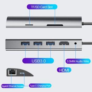 Image 3 - Cafele multifunções usb c hub, tipo c para multi usb 3.0 hdmi adaptador doca para macbook pro acessórios USB C tipo c 3.1 divisor