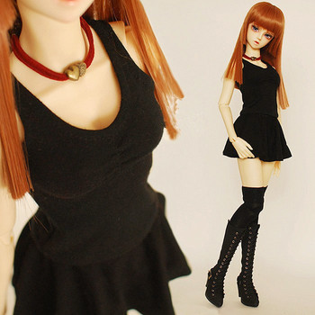 Fashion Drape Rompers Skirt +T-shirt  Set for BJD Doll Girl 1/4 MSD,1/3 SD10/13, SD16 LUTS.AS.DZ. Doll Clothes CWB54