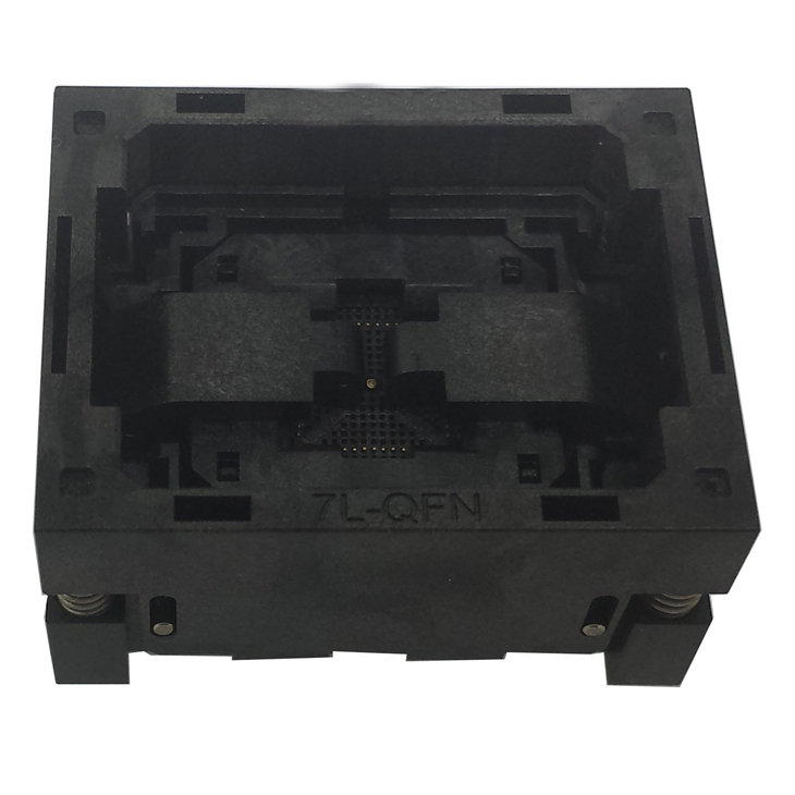 QFN64 MLF64 Burn in IC Test Socket ICNP506-064-041-C-G Pitch 0.5mm Chip Size 9*9 Flash Adapter Open top Programming Socket lga60 socket open top structure ic test socket burn in socket size 14 18mm programming socket lga adapter conversion block