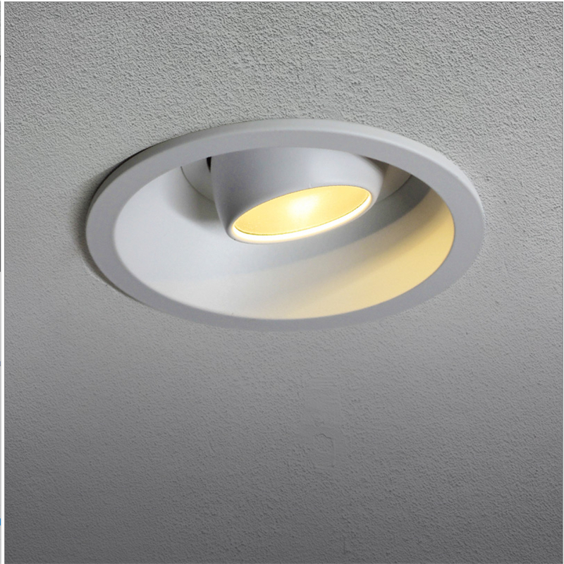 85-265Vac 5-12W LED Embedded down light ,built in cob head adjustable spot lamp , anti glare background painting light дополнительная фара gofl glare of light gl 0470 3311