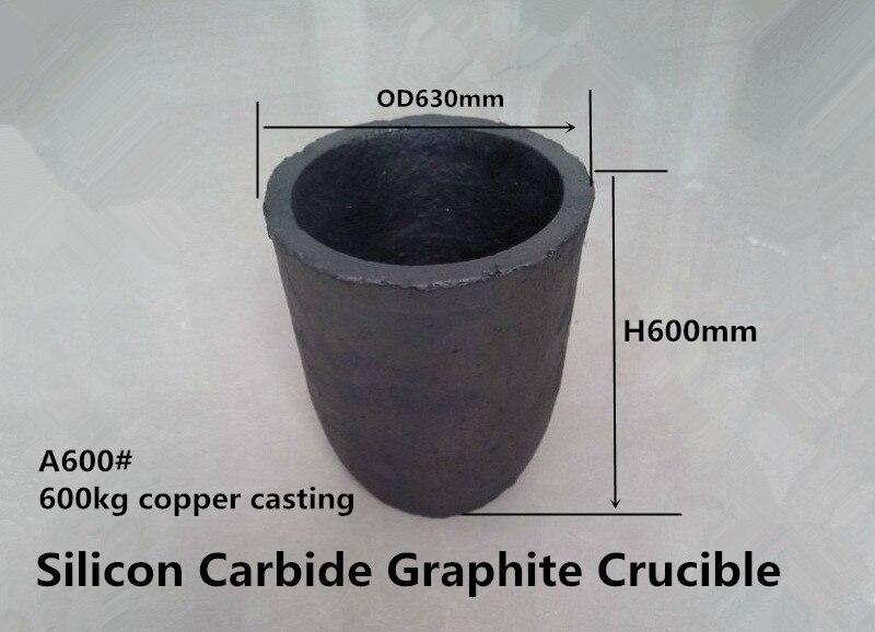A600# Silicon Carbide Graphite Crucible for 600kg copper /Zinc melting crucible /Graphite Crucible graphite crucible for melting metal high purity graphite crucible 3kg