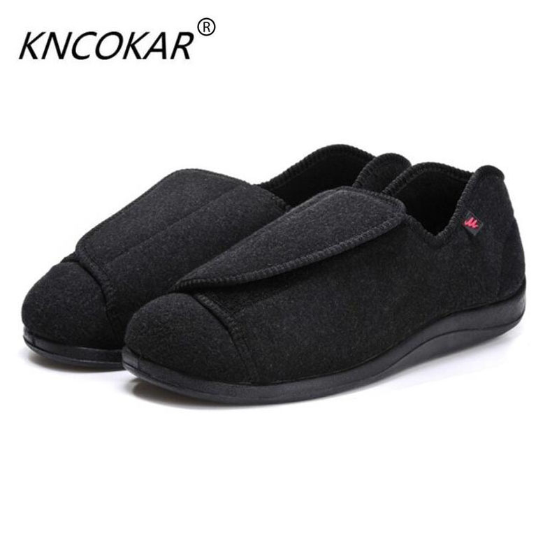 Men's Boots 100% Quality Kncokar 2018 Hot Sales Mens Shoes Are Cozy Adjustable And Wide Cotton Cloth Shoes Suitable For Foot Swollen Feet And Fat Feet Basic Boots