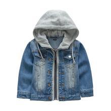 2016 Beau Garçons veste manteau avec capuche enfants printemps et automne Garçons veste De Mode à manches longues manteaux enfants outwear veste 6