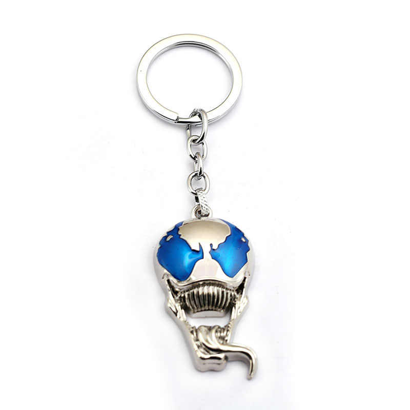 Человек-паук Venom фигурный брелок для ключей супергерой черный металл edard Eddie Brock брелок для ключей с игрушкой подарок мужской череп thanos брелки