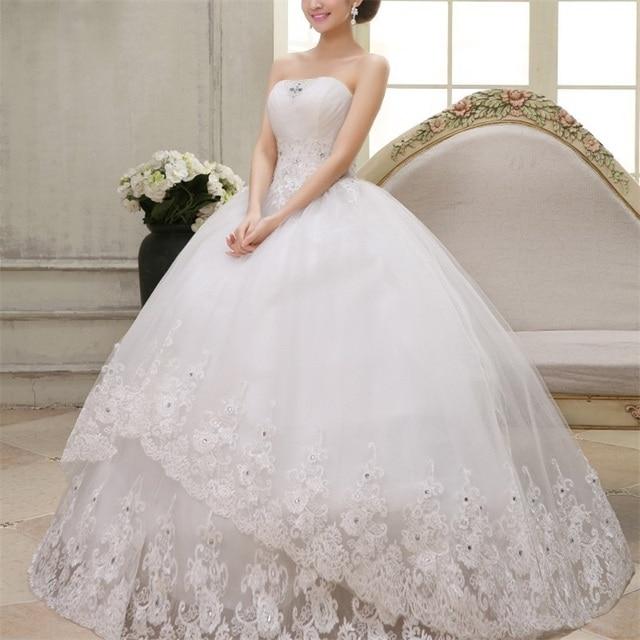 2017 Últimos vestidos de boda con apliques elegante vestido de gala