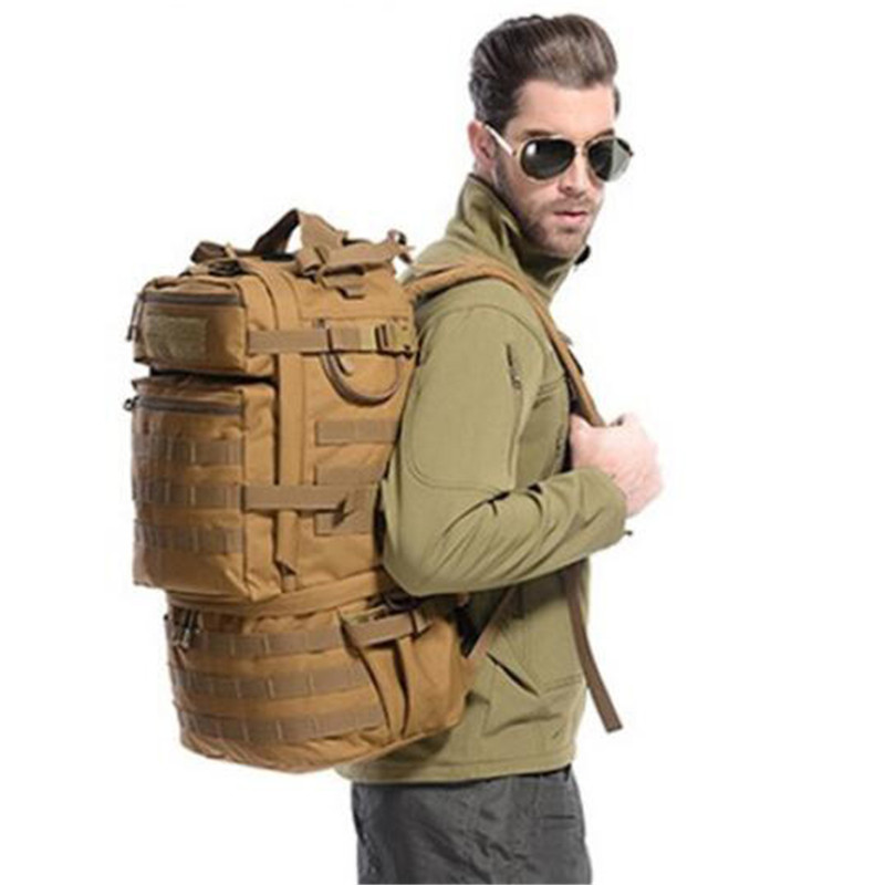 Backpack large capacity 50 L travel bag computer bag mountaineering bag military men  women  multifunctional high grade  bag 75l external frame support outdoor backpack mountaineering bag backpack men and women travel backpack a4809
